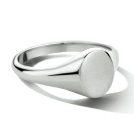 Ovalen Graveer Ring van Zilver | Ring met initialen