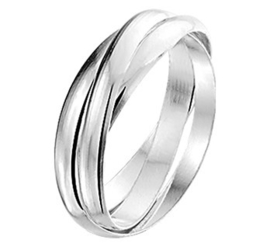 Zilveren Ring 3-in-1 / Maat 17 | SALE Ring