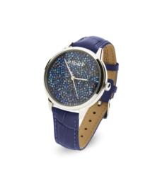 Spark Horloge met Blauwe Swarovski Kristallen