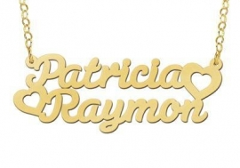 Names4ever Vergulde Patricia-Raymon Naamketting