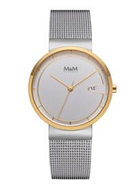 M&M Horloge met Goudkleurige Coating voor Dames