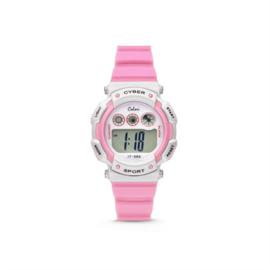 Roze met Wit Digitaal KIDZ Horloge van Colori Junior
