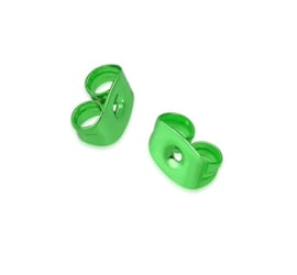 Groene oorbel achterkantjes (stoppers/vleugeltjes)