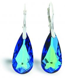 Teardrop Blauwe Swarovski Oorhangers van Spark Jewelry