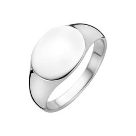Zilveren Ovalen Graveer Ring | Ring met naam graveren