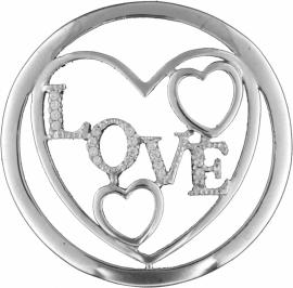 Zilveren Love Fantasy Munt 33-1186