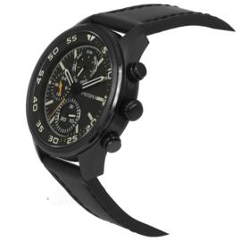 Zwart Multi-Functie Edelstalen Heren Horloge van Prisma