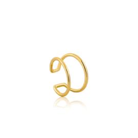 Goudkleurige Modern Ear Cuff van Ania Haie