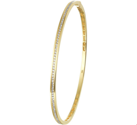 Fijne Bangle armband van Geelgoud met Diamanten