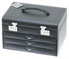 Luxe DAVIDTS sieradendoos in de kleur zwart