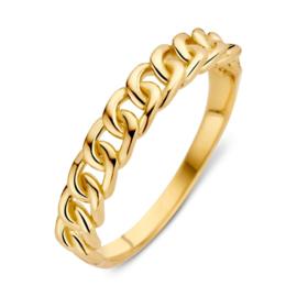 Excellent Jewelry Opengewerkte Schakel Ring van Geelgoud