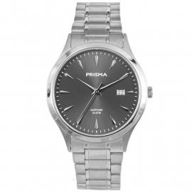 Prisma Horloge P.1651 Heren Edelstaal Saffierglas 10 ATM