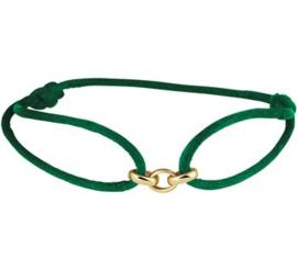 Groene Armband met Gouden Schakels