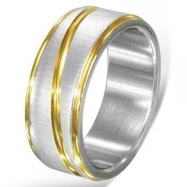 Graveer Ring / Goud- Zilverkleur SKU55113