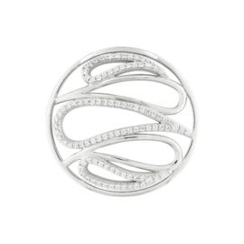 Zilveren Cover Munt met Zirkonia Lussen van MY iMenso 33-1389