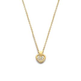 Excellent Jewelry Gouden Collier met Hartvormig Diamant Hanger