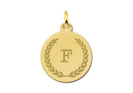 Gouden Initialen Hanger met Lauwerkrans | Names4ever