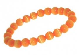 Oranje Kattenoog Charm-bedelarmband AB05 > Names4ever