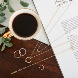 Goudkleurige Modern Circle Necklace van Ania Haie