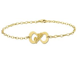 Julia Armband van Goud met Smalle Infinity Hanger > Names4ever