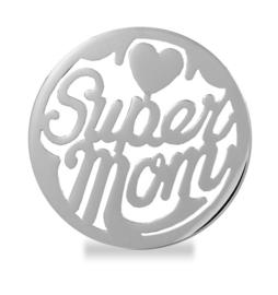LOCKits Zilverkleurige SUPER MOM munt 33mm