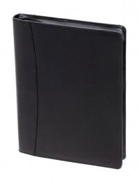 Zwarte schrijfmap in zwart leer