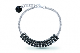 Stylish Zwarte Swarovski Armband van Spark Jewelry