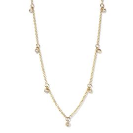 Excellent Jewelry Gouden Schakelcollier met 0,25crt. Diamanten