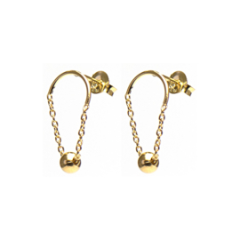 Karma Chain Dots Goldplated Oorstekers M1331