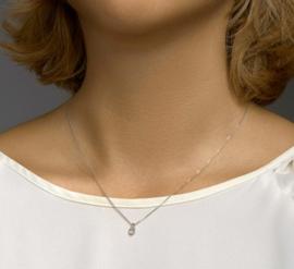 Witgouden Hanger made diamond 0,25ct F VSI