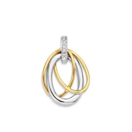 Excellent Jewelry Opengewerkte Bicolor Hanger met Zirkonia's