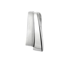 Gepolijste met Matte Zilveren Hanger van Gerhodineerd Zilver