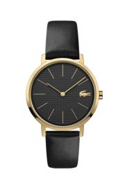 Lacoste Moon Goudkleurig Dames Horloge met Zwarte Wijzerplaat