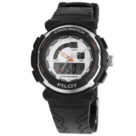 Zwart Cool Watch Kids Horloge van Kunststof