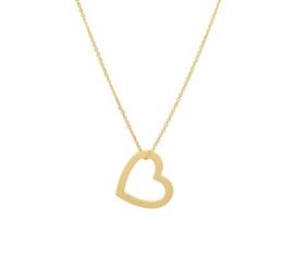 Gouden Collier voor Dames met Opengewerkte Harthanger