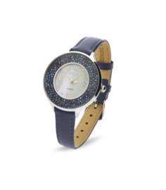 Oriso Horloge Met Blauw Lederen Horlogeband van Spark