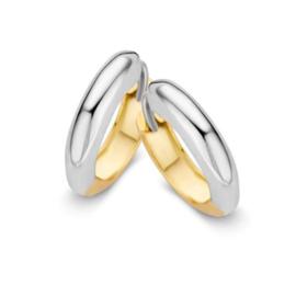 Excellent Jewelry Bolstaande Bicolor Creolen voor Dames