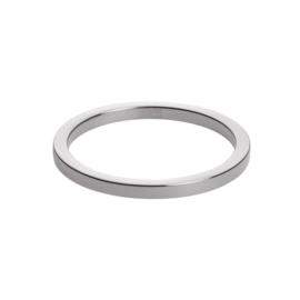Vlakke Slanke Zilverkleurige Ring van M&M
