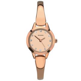 Basic Slanke Roségoudkleurig Dames Horloge van Sekonda