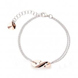 Infinity Roségoudkleurige Swarovski Armband