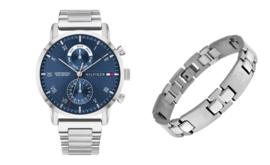 Giftset Tommy Hilfiger Horloge + Gratis Armband!