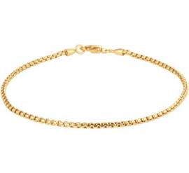 Gouden Venetiaanse Schakelarmband voor Dames