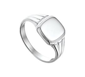 Massieve Zilveren Graveer Ring voor Jongens