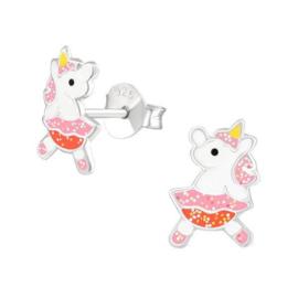Ballerina Unicorn Kinderoorbellen met Glitter Rokje