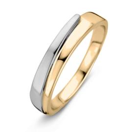 Excellent Jewelry Geelgouden Ring met Witgouden Uiteinde