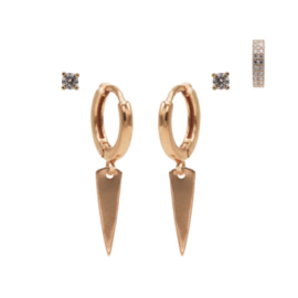 Karma Jewelry – Zesdelige Strong Suit Earparty Set - Rosé