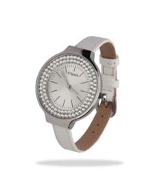Swarovski Horloge met Wit Lederen Horlogeband