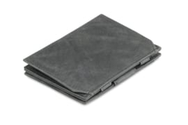 Geborsteld Zwarte Magic Coin Wallet Portemonnee van Essenziale Garzini
