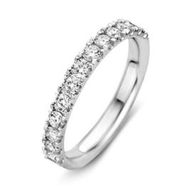 Excellent Jewelry Brede Witgouden Ring met Briljanten 0,78 crt.