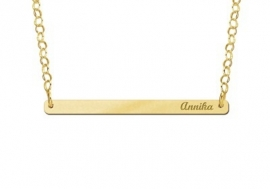 Bar Naamketting Goud Small Names4ever GNKB003